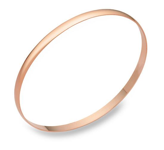 4mm 14K Rose Gold Bangle Bracelet
