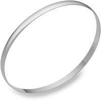 4mm 14K White Gold Bangle Bracelet