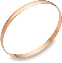 5mm 14K Rose Gold Bangle Bracelet