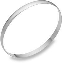 5mm 14K White Gold Bangle Bracelet