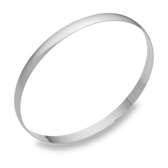 5mm 14K White Gold Bangle Bracelet