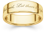 Genesis Bible Verse Wedding Band Ring in 14K Gold