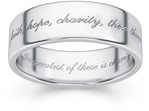 The Greatest of These Is Charity Bible Verse Ring