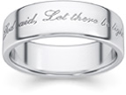 Let There Be Light Wedding Band Ring in White Gold