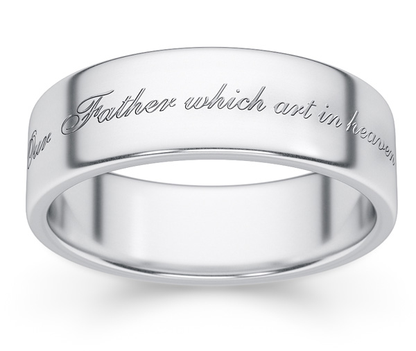 Our Father Which Art In Heaven Bible Verse Ring
