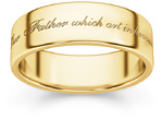 The Lord's Prayer Bible Verse Ring in 14K Gold