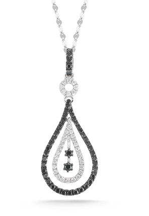 0.60 Carat Black and White Diamond Fashion Pendant
