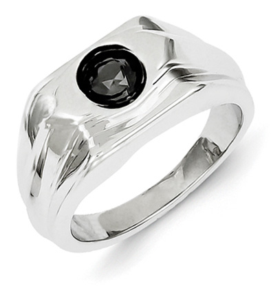 Men's 1 Carat Black Diamond Ring
