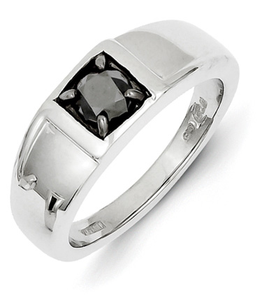 1 Carat Black Diamond Ring for Men