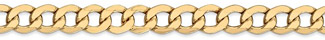 14K Gold Open Curb Link Chain, 24