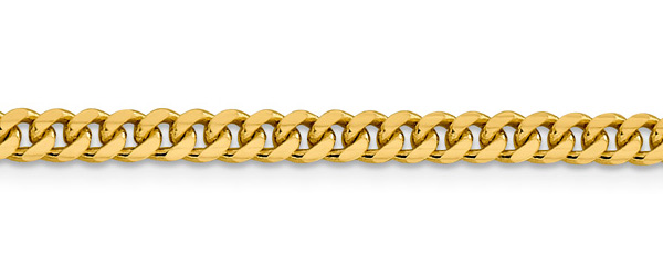 14K Gold Miami Cuban Curb Link Chain Bracelet