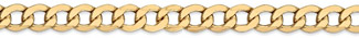 14K Gold Open Curb link Bracelet for Men (7mm)