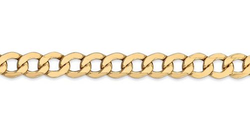 14K Gold Men's Open Curb Bracelet (8mm)