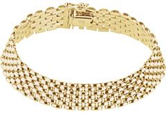 14K Gold Panther Bracelet