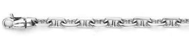 Anchor Chain Bracelet in 14K White Gold, 5mm
