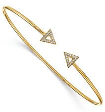 Triangle Diamond Bangle Bracelet in 14K Gold