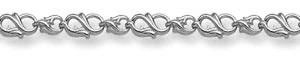 14K White Gold Paisley Bracelet