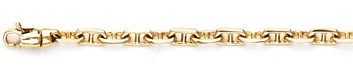 Anchor Chain Bracelet in 14K Yellow Gold
