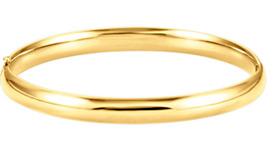 6.5mm Hinged Bangle Bracelet, 14K Yellow Gold