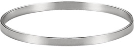 Plain Polished Bangle Bracelet, Sterling Silver (4.75mm)