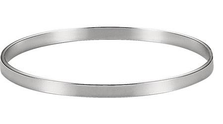 Plain Polished Bangle Bracelet, Sterling Silver (4.75mm)