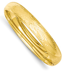 Florentine Engraved Bangle Bracelet in 14K Gold