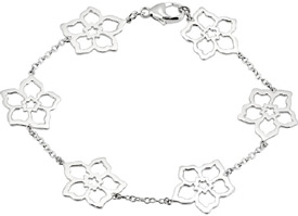 Flower Pedal Bracelet in 14K White Gold
