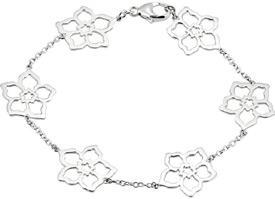 Dainty Flower Pedal Bracelet in Sterling Silver