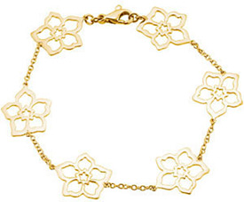 Forget Me Not Flower Bracelet in 14K Gold