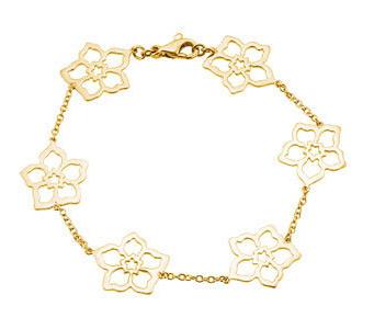 Forget Me Not Flower Bracelet in 14K Gold