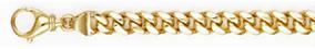 Handmade 14K Yellow Gold 5.8mm Curb Bracelet