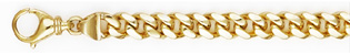 Handmade 6.5mm 14K Yellow Gold Curb Bracelet