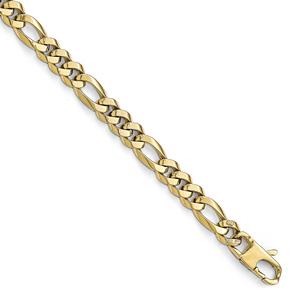 Handmade Italian Figaro Bracelet for Men, 14K Gold