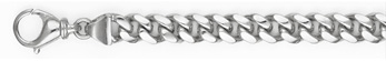 10K White Gold 7.5mm Curb Bracelet