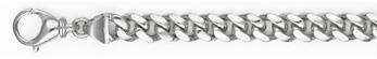 Handmade 14K White Gold 7.5mm Curb Bracelet