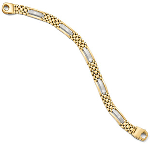 Italian 14K Two-Tone Gold Designer Bracelet for Men