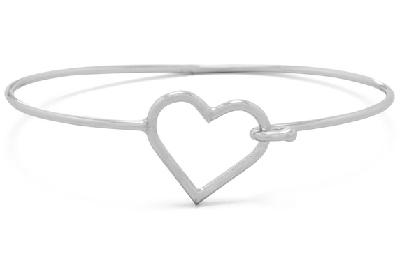 infant engravable bangle bangles or sterling toddler p for silver heart bracelet
