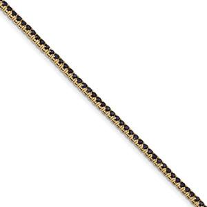 2.80 Carat Sapphire Tennis Bracelet, 14K Gold