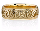 Celtic Trinity Knot Wedding Band in 14K Yellow Gold