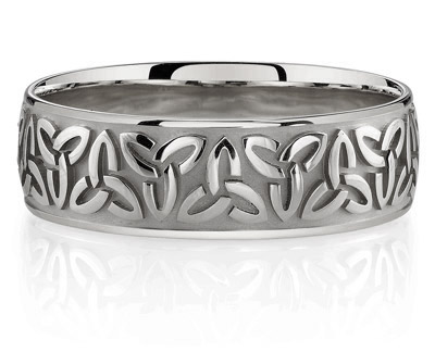 Sterling Silver Celtic Trinity Knot Band