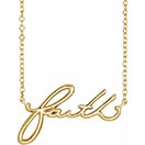 14K Gold Faith Necklace