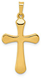 14K Gold Man of God Cross Pendant