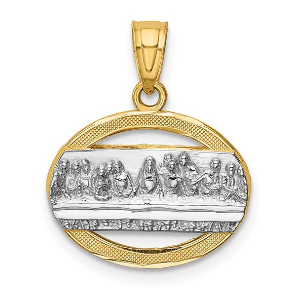 14K Gold Two-Tone The Last Supper Communion Pendant