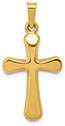 14K Gold Woman of Strength Cross Pendant Necklace