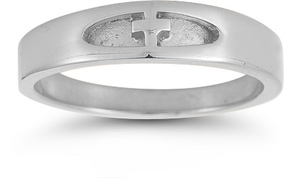Women's Christian Cross Ring in Sterling Silver