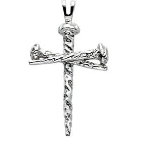 Platinum Cross of Nails Pendant