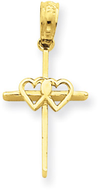 14K Yellow Gold Wedding Cross