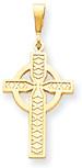 14K Yellow Gold Celtic Cross Pendant