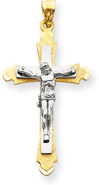 14K Two-Tone Gold Crucifix