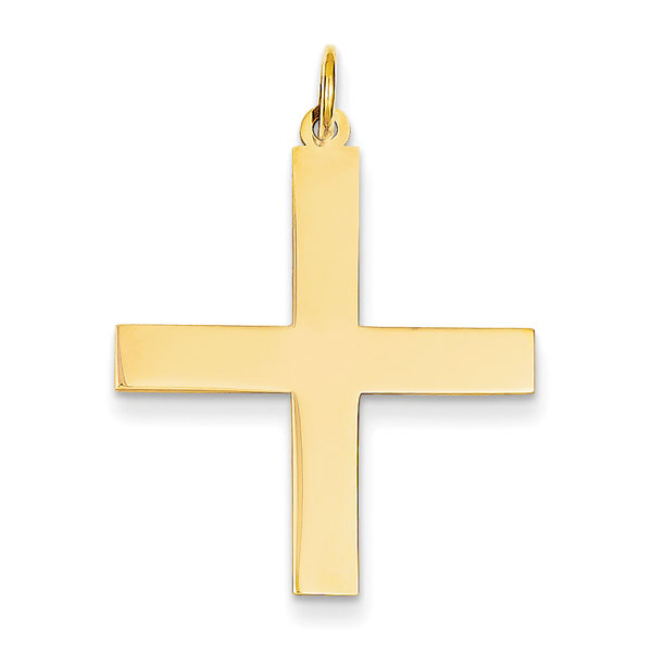 14K Yellow Gold Greek Cross Pendant
